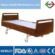 NFBS27 Manual nursing home beds with two functions,nursing home beds With high density wood Frame Headboard