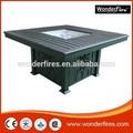 Fogueira ao ar livre tabela/alumínio/pátio aquecedor/sus queimador ststem/válvula de esfera/regulador/fireglass/ng kit de conversão/