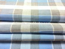 100% cotton yarn dyed fabric ,white&blue checks pattern,