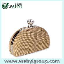 swarovski crystal clutch bag, evening party bag with transparent crystal lock catch