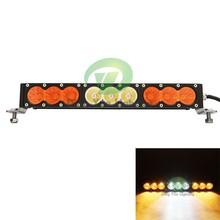 16.6''led light bar 90W led bull light bar with amber and white leds