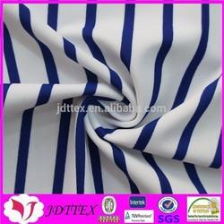 nylon spandex high quality print swimsuit blue and white stripe fabric