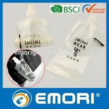 Top quality CMYK printing BPA FREE / EU foodgrade Safety / LFGB / FDA plastic foldable bottle with carabiner 480ml