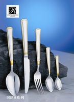 P&Thigh quality competitive price low flatware gold &silver stainless steel flatware set cutlery set banquet use