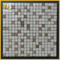 Egyptian Yellow mixed Emperador Light Natural Not Cultured Marble Floor Tile