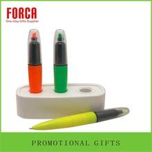 Cheap Whiteboard Marker Pen Fluorescent Marker Pen/Ball Pen 2 in 1 Plastic Marker Pen