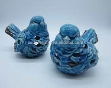 Ceramic bird table decor