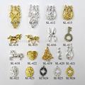 2015 nova moda barata metal 3d prego projetos nail glitter gel decoração de unhas
