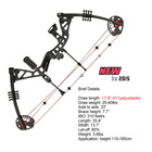 2015 new design 25 lbs-40 lbs black archery compound bow junior compound bow suitable for beginners