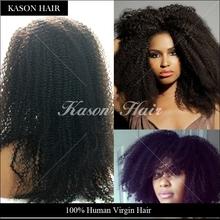 Alibaba Express Brazilian Virgin Hair And Short Afro Kinky Human Hair Wig For Balck Women