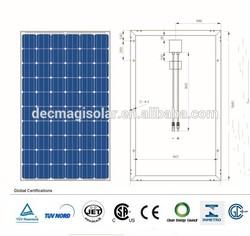 MGSP250-60 250W Polycrystalline solar pv Panels, JET, CB,TUV,CEC,CSA, Brazil INMETRO