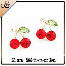 Fashion cherry shaped fruit earring