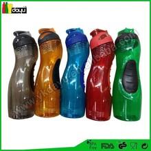 Botella de plástico del deporte tritan material de red bull del deporte botella de agua del deporte botella con más fresco stick
