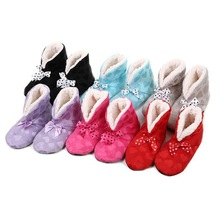 Lovely Home Microfibre Slippers TWO way Wear Shoes,Heart Bow Indoor Slippers Winter Foot Warmer,7 colors