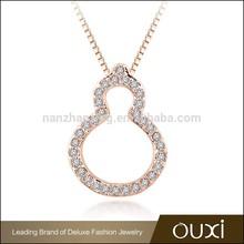 OUXI top designer handmade AAA Zircon calabash necklace jewelry raw material