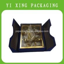 popular luxury door chocolate open gift box with plastic insert
