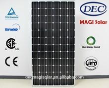 MGSM305-72 305W Monocrystalline solar pv Panels, JET, CB,TUV,CEC,CSA