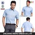 Nuevo estilo de los hombres 2015 a rayas de manga corta camiseta de vestimenta informal, prendas de vestir de los hombres