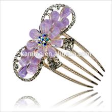 diamond flower Beaded wholesale Bridal Hair Comb Fashion Accessories