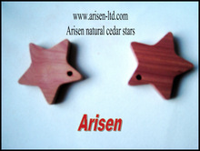 Mini Natural Cedar Wood Stars