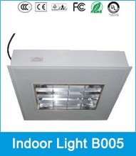 Induction office ceiling grille light with high illumination