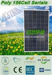 yingli solar module/panel 250w,255w(KS255P-60) wholesale china