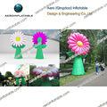 Flor inflável para publicidade/inflável cadeia de flores/inflável aster
