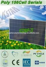 pv solar panel price/polycrystalline 290W solar module/panel(KS290P-72) from China Manufacturer