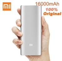 100% Original Xiaomi Power Bank 16000mAh Portable Charger Mi Powerbank Silver