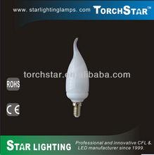 F37 9W high lumen retrofit candle flame light bulbs