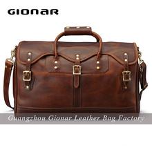 Crazy horse men leather bag , men duffle bag ,guangzhou bag manufacturer