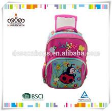 Detachable trolley school bags, cheap trolley backpack