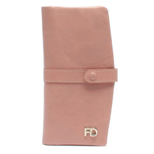 Unique shape style fashion ladies soft italian leather wallet