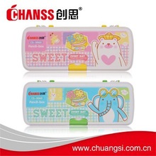 2015 fashion design heat transfer print plastic pencil case cs-3060