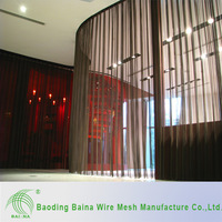 Stainless Steel Metal Decorative Chain Link Curtain/Partition Screen