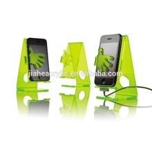Desktop novelty cell phone holder acrylic desk mobile phone display stand