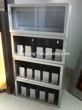 Ajustable estante divisor sistema push/chocolate de acrílico exhibición de la tienda de rack/estante ajustable empujador para el cigarrillo para la venta