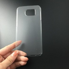 factory wholesael high quality smooth ultra thin crystal cellphone cover for galaxy s6