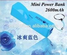 Newest second generation perfume power bank,portable good quality screwy perfume power bank 2600mah,key chain slim power bank