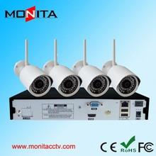 Hot 4CH NVR Kits 720P 1.0MP 20m Night Vision Wifi IP Camera Outdoor CCTV Surveilance Camera System Kit