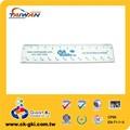 de promoción de la marca de regla de plástico fabricante 13cm gobernante