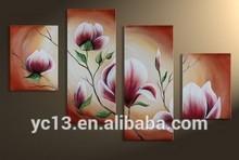 4pcs panel still life modern flower oil painting PL-58