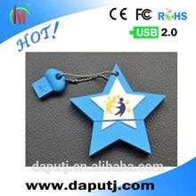 star shape usb flash drive with customized logo