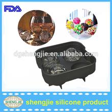 Shengjie Novelty FDA approved round ice cube mold silicone ice ball mold maker ice cream tray