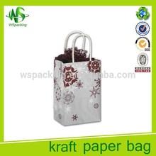 Printing lightweight kraft shopping retail paper bag