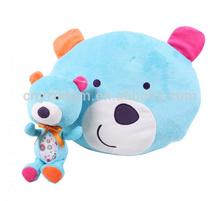soft plush bear shape baby bolster pillow cushion & toys set