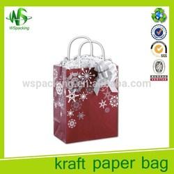 Cheap white kraft advertising paper bag supplier