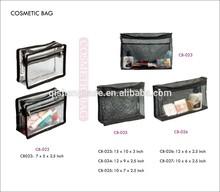 clear cosmetics case jewerly bag eyelash vinyl bag powder cake bag makeup brush plastic bag