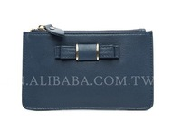 Western style branded genuine leather fashion purse