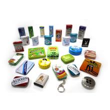 wholesale small hinged rectangular metal mint tin box